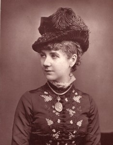 Royaume-Uni Theatre Actrice Bella Pateman Ancienne Photo 1880