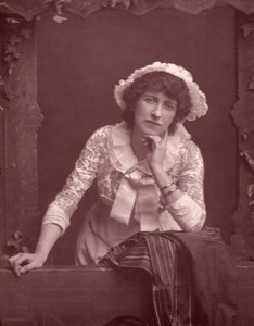United Kingdom Theatre Stage Actress Fanny Mary Bernard-Beere old Photo 1880