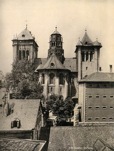 Switzerland Geneva St. Pierre Cathedral Old Photo Schroeder 1890