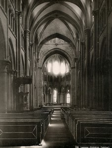 Switzerland Lausanne Cathedral Interior Old Photo Schroeder 1890