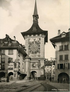 Switzerland Bern Clock Tower Zytglogge Zeitglockenturm Old Photo Schroeder 1890