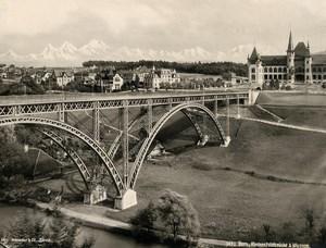 Switzerland Bern Museum Kirchenfeldbrücke Kirchenfeld Old Photo Schroeder 1890