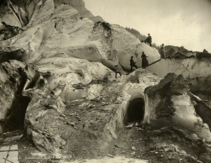 Switzerland Grindelwald Ice Caves Glacier Bernese Alps Old Photo Schroeder 1890