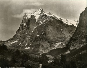 Switzerland Grindelwald & the Wetterhorn Bernese Alps Old Photo Schroeder 1890
