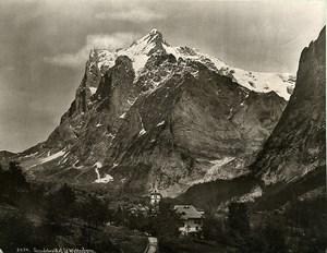 Switzerland Grindelwald & the Wetterhorn Bernese Alps Old Photo Schroeder 1890