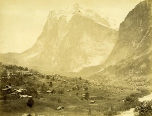 Switzerland Grindelwald & the Wetterhorn Bernese Alps Old Photo 1890
