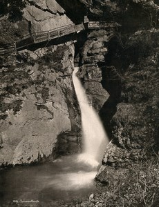 Switzerland near Lauterbrunnen Trümmelbach Falls Old Photo 1890