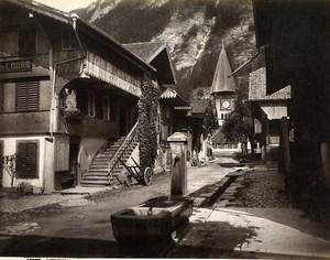 Switzerland Meiringen Hotel de l'Ours Bernese Alps Old Photo Sommer 1890
