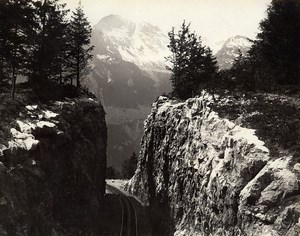 Switzerland Brunig Railway Line Brünigbahn Old Photo Sommer 1890