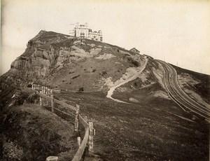 Switzerland Rigi Kulm Hotel Bernese Alps Old Photo Sommer 1890