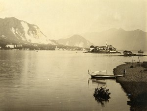 Switzerland Lake Lago Maggiore Isola dei Pescatori Old Photo Nessi 1890