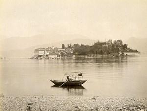 Switzerland Lake Lago Maggiore Isola Bella Boat Old Photo Nessi 1890