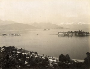 Switzerland Lake Maggiore Borromean Islands Isole Borromee Old Photo Nessi 1890