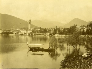 Italy Verbania Pallanza Lake Lago Maggiore Panorama Old Photo Bosetti 1890