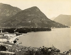 Switzerland Lugano Monte Brè Old Photo Nessi 1890