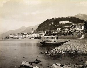 Italy Bellagio Lake Como Lago di Como Old Photo Nessi 1890