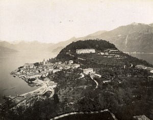 Italy Bellagio Lake Como Lago di Como Old Photo Nessi 1890