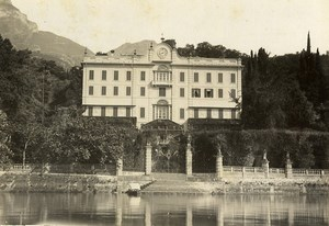 Italy Lake Como Tremezzo Villa Carlotta Façade Old Photo Nessi 1890