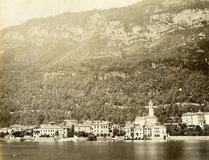 Italy Lake Como Sala Comacina Lago di Como Old Photo Nessi 1890