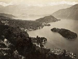 Italy Lake Como Tremezzina Lago di Como Old Photo Nessi 1890
