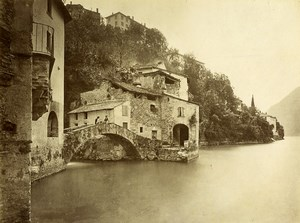 Italy Lake Como Orrido di Nesso Lago di Como Old Photo Bosetti 1890