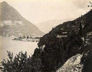 Italy Lake Como Torno Panorama Lago di Como Old Photo Nessi 1890