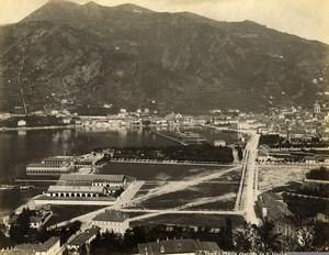 Italy Lake Como General view of San Giovanni Lago di Como Old Photo Nessi 1890