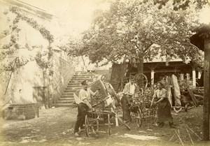 France Baie de Somme Saint Valery sur Somme Farm Equipment Old Photo 1885