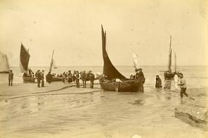 France Baie de Somme Le Crotoy Saint Valery sur Somme Fishing boats Photo 1885