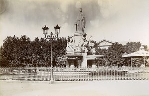 France Nimes Fontaine Pradier Fountain Old Photo Jusniaux 1895