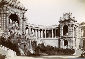 France Marseille Palais de Longchamps Palace Old Photo Jusniaux 1895