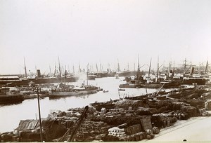 France Marseille-Fos Port Basins of la Joliette Old Photo Jusniaux 1895