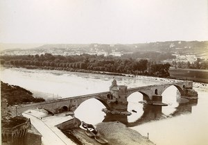 France Pont d' Avignon the Bridge Old Photo Jusniaux 1895