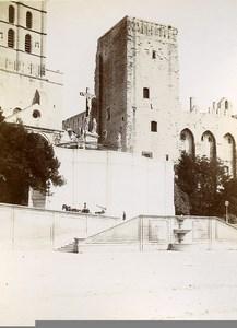 France Avignon Palais des Papes Tower Calvary Old Photo Jusniaux 1895