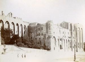 France Avignon Palais des Papes Old Photo Jusniaux 1895