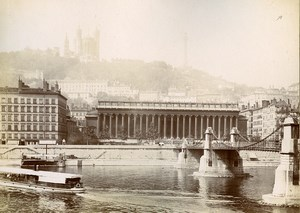 France Lyon Jacobins Fountain & Fourvieres 2 Old Photos Jusniaux 1895