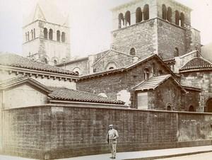 France Lyon Basilica of Saint-Martin d'Ainay Two Old Photos Jusniaux 1895