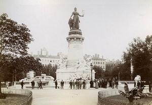 France Lyon Monument à la République & enfants du Rhône Old Photos Jusniaux 1895