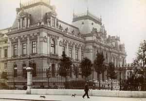 France Lyon Bartholdi Fountain & Prefecture Two Old Photos Jusniaux 1895