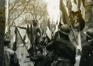 France Paris Inauguration of Monument Archembaud Statue Old Meurisse Photo 1930
