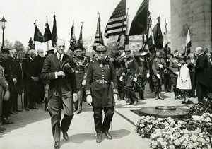 France Paris Military US Ambassador Jesse Strauss Old Photo Meurisse 1933
