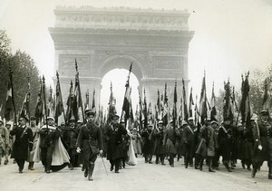 France Paris Military November 11 Ceremony Flags Old Meurisse Photo 1930