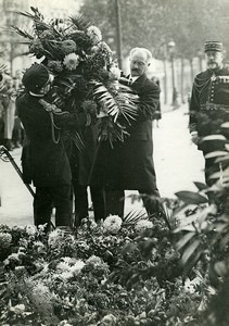 France Paris Military Albert Lebrun Wreath Unknown Soldier Photo Meurisse 1934