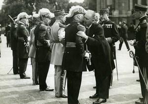France Paris Militaire Fete du 14 Juillet Albert Lebrun ancienne Photo Meurisse 1934