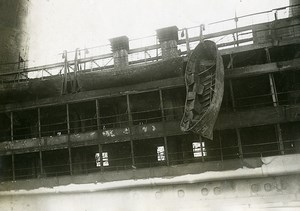 France Marine Ocean Liner SS L'ATLANTIQUE after fire Old Photo Meurisse 1933