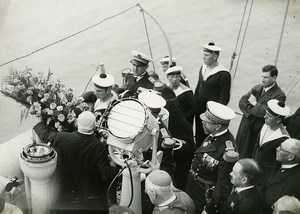 France Marine Disaster ? Ceremony Wreath Old Photo Meurisse 1932