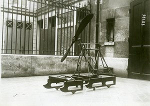 France Sled Bicycle with Propeller from Gustave de Puiseux Photo Branger 1912