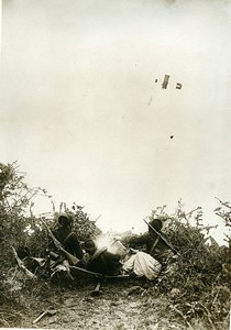 France Early Military Aviation Maneuvers Infantry Old Photo Rol 1912