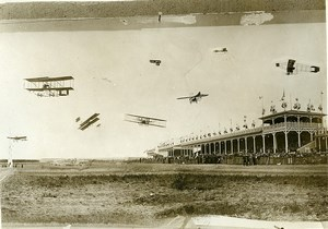France Reims Betheny Early Aviation Meeting Photomontage Old Photo Rol 1909