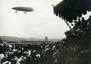 Paris Longchamp Bastille Day Parade Dirigible Clement Bayard Photo Branger 1912